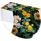 1x Hygienické jednorázové Rúško-Flowers/Typ17