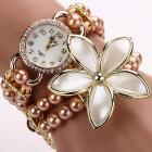Hodinky Pearl Flower - Staro- ružová