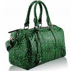 Kabelka Leopard-Zelená/Čierna
