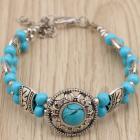 Náramok Vintage Beads-Tyrkysová