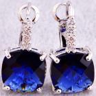 Náušnice Garnet - Modrá