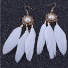 Náušnice White Feather