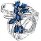 Prsteň Scarlett-Str./Modrá/55mm