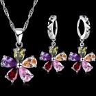 Set šperkov Petalled Flower - Multi/Strieborná