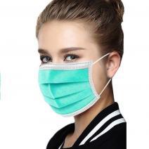 1x Hygienické jednorázové Rúško-Zelená2