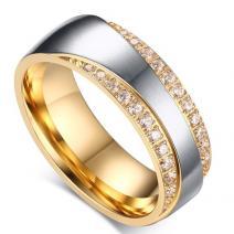 Dámsky Prsteň Promise-Zlatá/Str./57mm