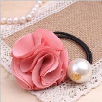 Gumička do vlasov ROSE - Ružová