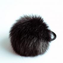 Gumička do vlasov Rabbit - Čierna