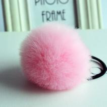 Gumička do vlasov Rabbit - Ružová