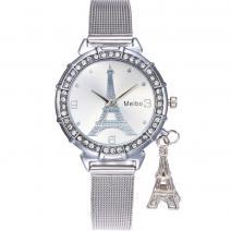 Hodinky Eiffel-Strieborná