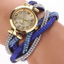 Hodinky Feminino Crystal - Modrá