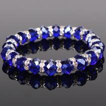 Kryštálový náramok - Modrá