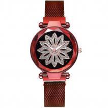 Magnetické Hodinky Ornamento-Červená