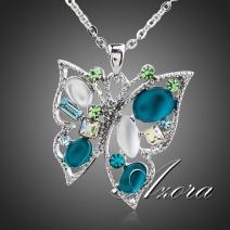 Náhrdelník Butterfly Elegant AZORA-Tyrkysová