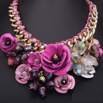 Náhrdelník Rose Rosette - Ružová