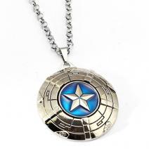 Náhrdelník Štít Captain America-Strieborná
