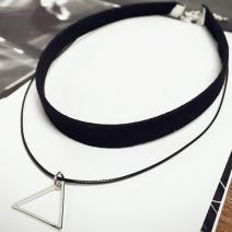 Náhrdelník Triangle-Čierna/Strieborná