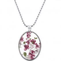 Náhrdelník Unique Flower-Ružová
