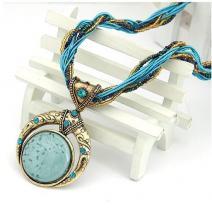 Náhrdelník Vintage - Modrá