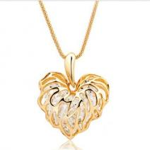 Náhrdelník Zirkon Heart - Zlatá