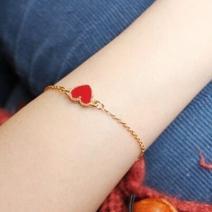 Náramok Bijoux Heart - Červená