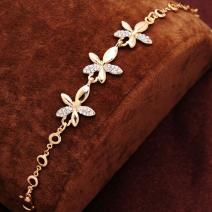 Náramok Kvetinka-Zlatá