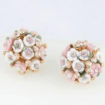 Náušnice Bunch Flower - Ružová
