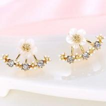 Náušnice Flower bow - Zlatá