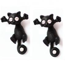Náušnice Kitty Cat - Čierna