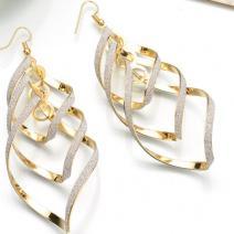 Náušnice Knitted Charm-Zlatá