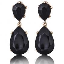 Náušnice Lux Crystal-Čierna