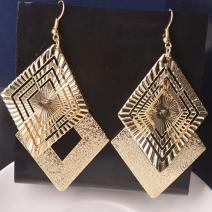 Náušnice Rombo-Zlatá