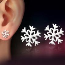 Náušnice Silver Snowflake - Strieborná