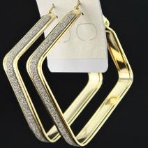 Náušnice Square Charm - Zlatá
