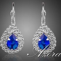 Náušnice Tiny AZORA-Str./Modrá