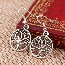 Náušnice Tree of Life - Strieborná