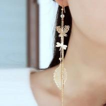 Náušnice Vlinder-Zlatá