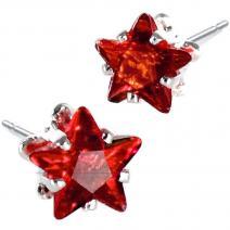 Náušnice napichovacie Hviezdičky- Červená
