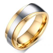 Pánsky Prsteň Promise-Zlatá/Str./67mm