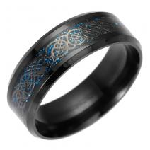 Prsteň Adelio-Čierna/Modrá/57mm
