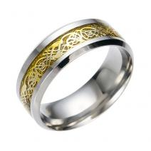 Prsteň Adelio-Str./Zlatá/57mm