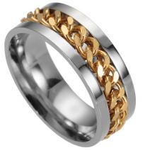 Prsteň Chuan-Str./Zlatá/67mm