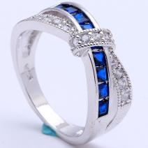 Prsteň Divine-Str./Modrá/59,5mm