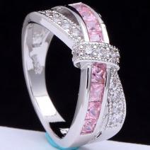 Prsteň Divine-Str./Ružová/59,5mm