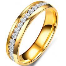 Prsteň Endless-Zlatá/65mm