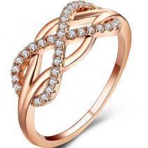 Prsteň Infini-Zlatá/57mm