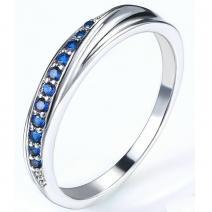 Prsteň Lilien-Str./Modrá/59mm