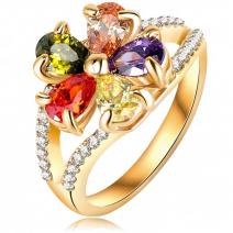 Prsteň Luxury - Zlatá/53mm