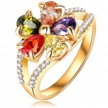 Prsteň Luxury - Zlatá/57mm