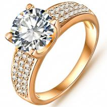Prsteň Noble - Zlatá / 57mm